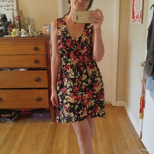 Floral bow front dress
